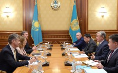 President of Kazakhstan meets with Julie Monaco, global head in Citi's public sector group