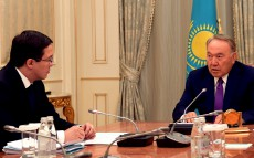Meeting with the National Bank Chairman Daniyar Akishev