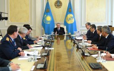 Security Council Meeting under the chairmanship of President Nursultan Nazarbayev