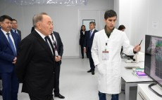 Visiting the research complex at Nazarbayev University