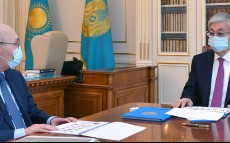 The President receives the AIFC Governor Kairat Kelimbetov
