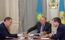 Meeting with Bakytzhan Abdraim, Chairman of Kazakhstan's Trade Union Federation